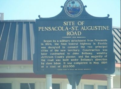 Site of Pensacola - St Augustine Road Marker image. Click for full size.