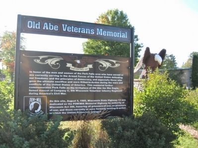 Park Falls Veterans Memorial and Marker image. Click for full size.