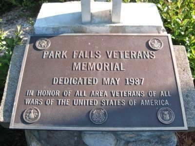 Park Falls Veterans Memorial Plaque image. Click for full size.