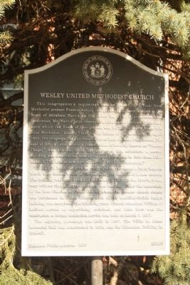 Wesley United Methodist Marker image. Click for full size.