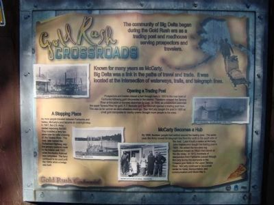 Gold Rush Crossroads Marker Photo, Click for full size