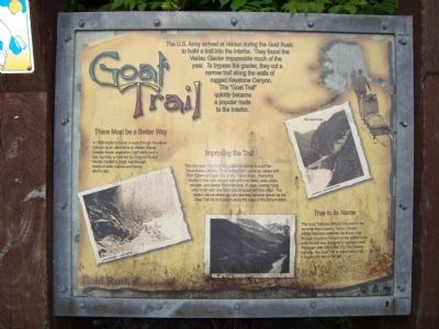 Goat Trail Marker image. Click for full size.
