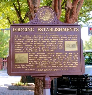 Lodging Establishments Marker image. Click for full size.