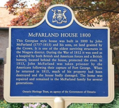 McFarland House Marker image. Click for full size.