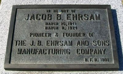 Jacob B. Ehrsam Marker image. Click for full size.