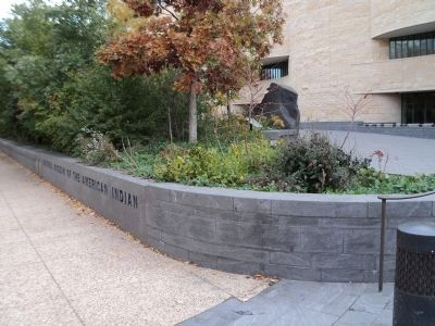 Marker at the National Museum<br>of the American Indian image. Click for full size.