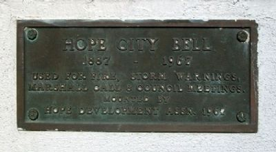 Hope City Bell Marker image. Click for full size.