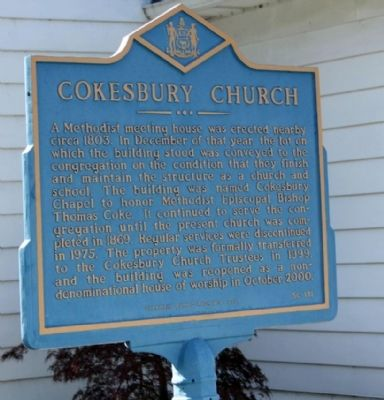 Cokesbury Church Marker image. Click for full size.