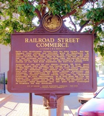 Railroad Street Commerce Marker image. Click for full size.