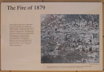 The Fire of 1879 Marker image. Click for full size.