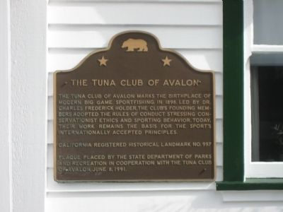 The Tuna Club of Avalon Marker image. Click for full size.