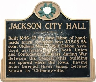 Jackson City Hall Marker image. Click for full size.