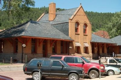 Deadwood Railroad Depot, now Visitor's Center image. Click for full size.