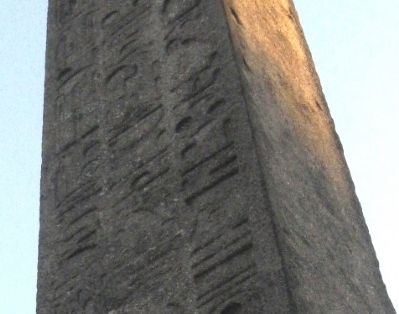 Cleopatra's Needle close-up image. Click for full size.