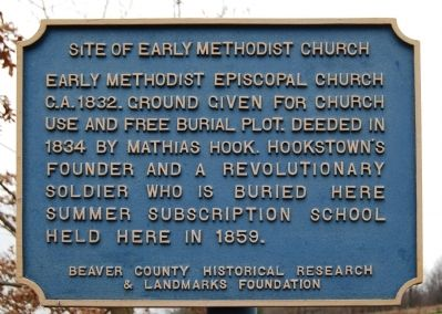 Site of Early Methodist Church Marker image. Click for full size.