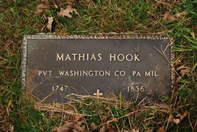 Mathias Hook Grave image. Click for full size.