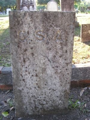Gravestone of an Unknown Confederate Veteran image. Click for full size.