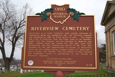 Riverview Cemetery Marker (front) image. Click for full size.