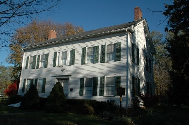 The Mynderse-Frederick House & <i>House Built 1802</i> Marker image. Click for full size.