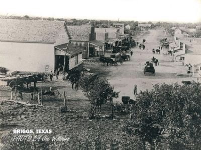 Historic photo of Briggs, Texas. image. Click for full size.