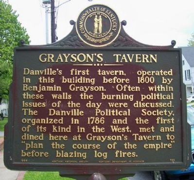 Grayson's Tavern Marker image. Click for full size.