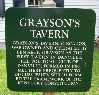 Grayson's Tavern Sign in Front of Tavern image. Click for full size.