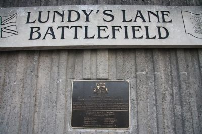 Lundy's Lane Battlefield Commemorative Wall Marker Photo, Click for full size