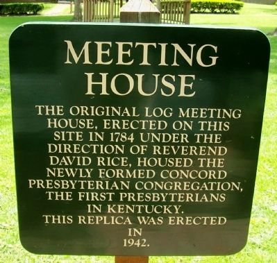Presbyterian Meeting House Sign image. Click for full size.
