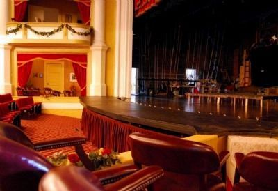 Abbeville Opera House Interior<br>Stage from Right Box image. Click for full size.
