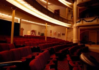 Abbeville Opera House Interior<br>Orchestra Seating from Right Box image. Click for full size.