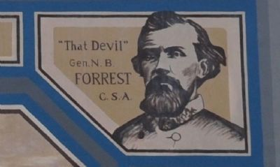 """The Devil"" General Nathanl Bedford Forrest CSA image. Click for full size."
