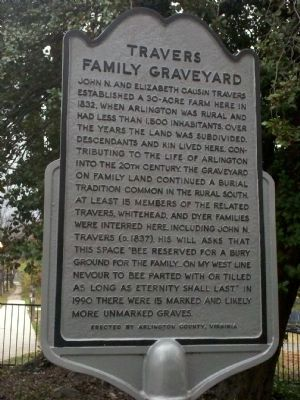 Travers Family Graveyard Marker image. Click for full size.