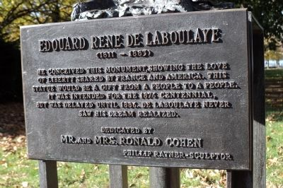 Edouard Rene De Laboulaye Marker image. Click for full size.