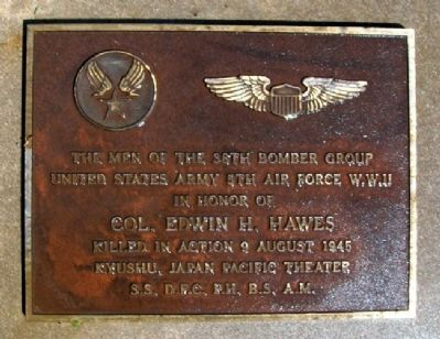 Colonel Edwin H. Hawes Memorial image. Click for full size.