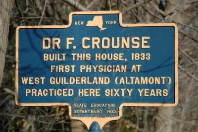 Dr. F. Crounse Marker image. Click for full size.