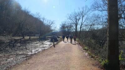Hikers on the Tow Path, headed south toward Georgetown, D.C. image. Click for full size.
