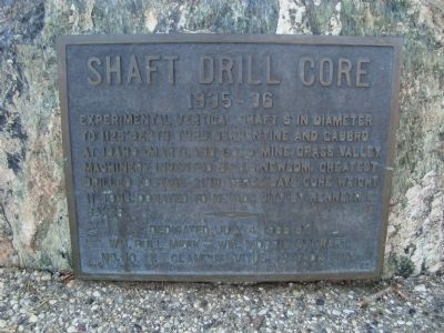 Shaft Drill Core Marker image. Click for full size.