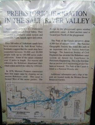 Prehistoric Irrigation in the Salt River Valley Marker image. Click for full size.