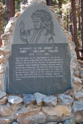 Chief William Fuller Marker image. Click for full size.