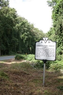 Constitution Forest Marker image. Click for full size.