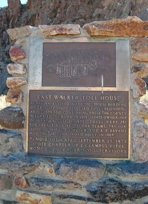 East Walker Toll House Marker image. Click for full size.
