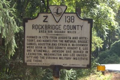Rockbridge County Face of Marker image. Click for full size.
