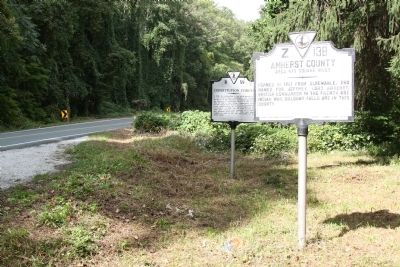 Amherst County / Rockbridge County Marker with Constitution Forest Marker image. Click for full size.