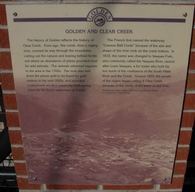 Golden and Clear Creek Marker image. Click for full size.