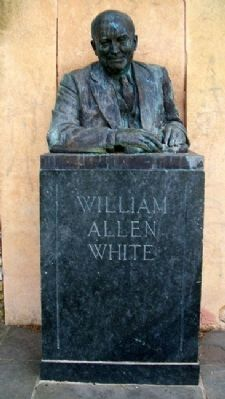 William Allen White at Mary White Memorial image. Click for full size.