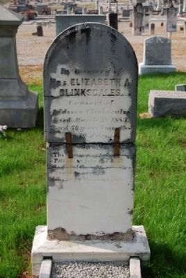 Elizabeth A. Clinkscales Tombstone image. Click for full size.