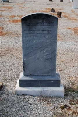 William Clinkscales Tombstone image. Click for full size.