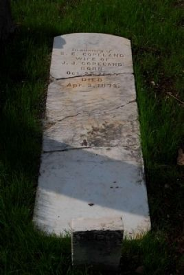 S.E. Copeland Tombstone image. Click for full size.
