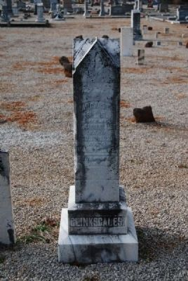 Margaret Ellis Clinkscales Tombstone image. Click for full size.