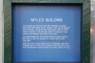 Myles Building Marker image. Click for full size.